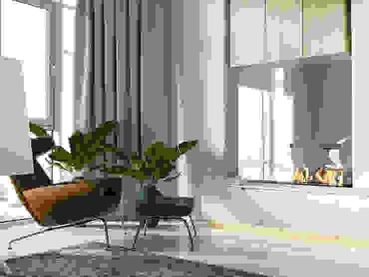 AShel Minimalist living room Wood Orange