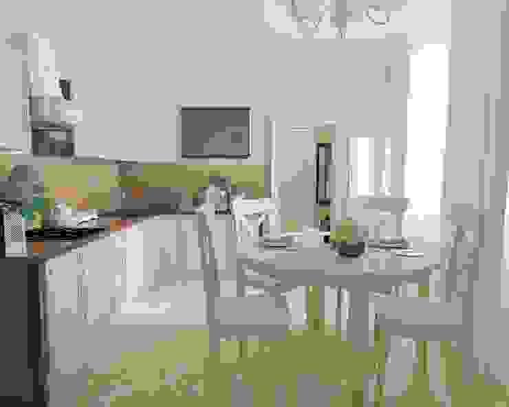Современная классика с нотками прованса Кухня в стиле кантри от MEL design Кантри