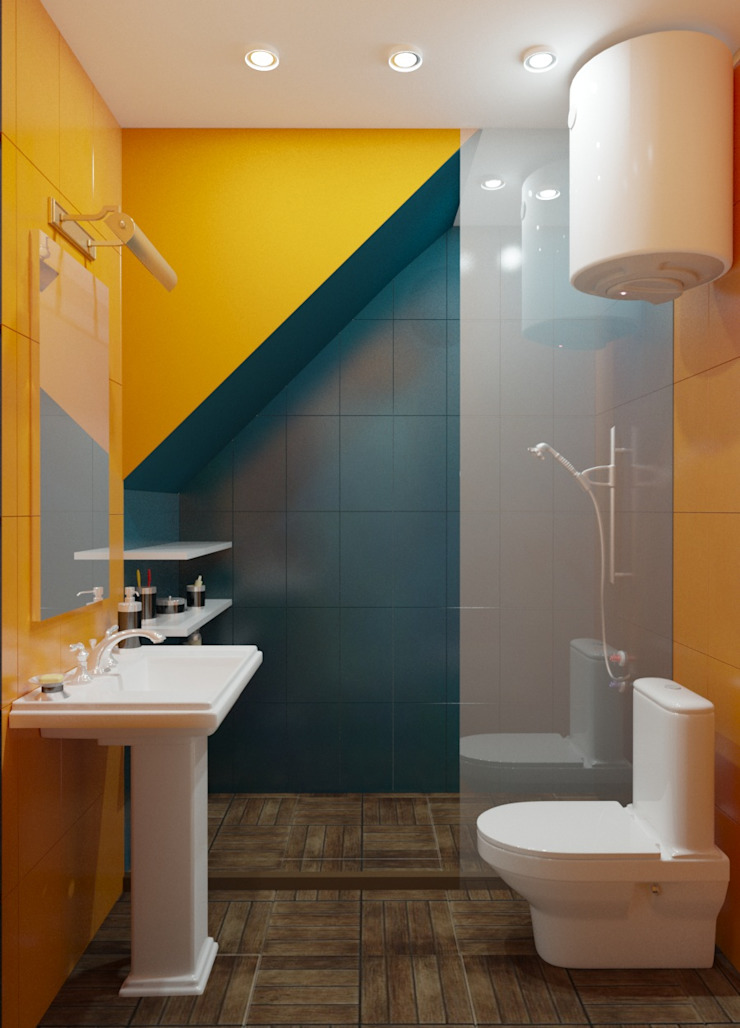 Современная классика с нотками прованса Ванная комната в стиле кантри от MEL design Кантри