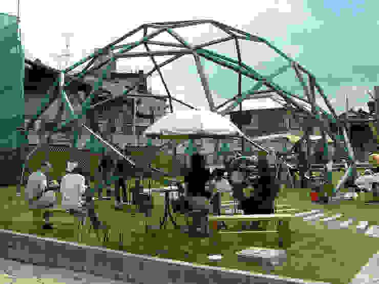 木のジオデシックドーム オリジナルな 家 の 木造トラス研究所・株式会社 合掌 オリジナル 木 木目調