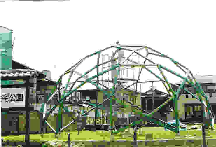 木のジオデシックドーム 蛇の目ドーム オリジナルな 家 の 木造トラス研究所・株式会社 合掌 オリジナル 木 木目調