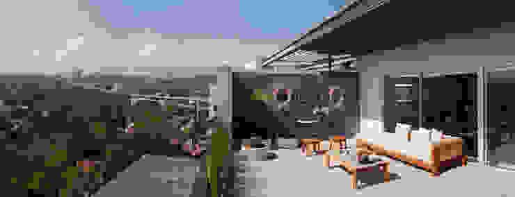 Proyecto PH Las Flores Balcones y terrazas modernos de Basch Arquitectos Moderno