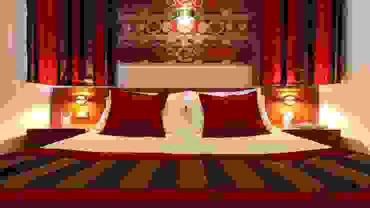 Mediterranean style hotels by Sanabel Decor Mediterranean Textile Amber/Gold