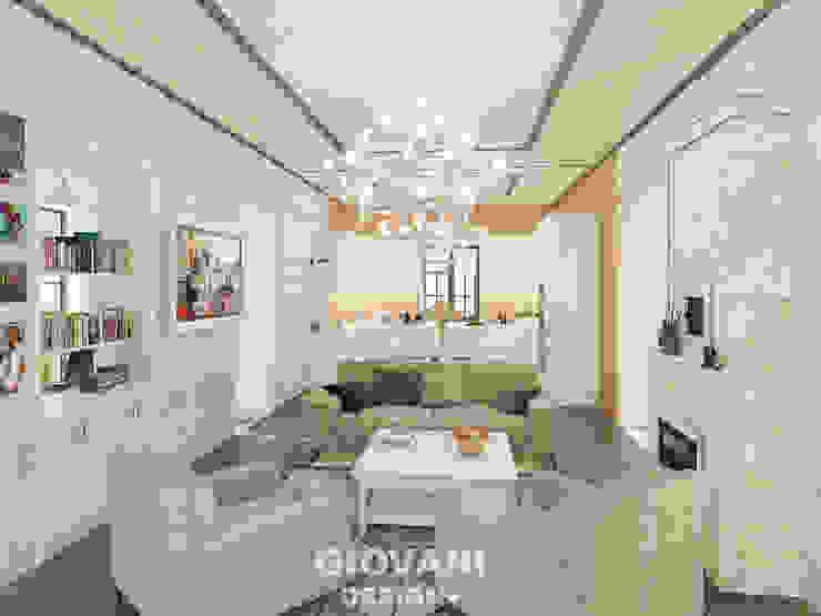 """Дом """"Contemporary"""". Гостиная Гостиная в стиле кантри от Giovani Design Studio Кантри"""