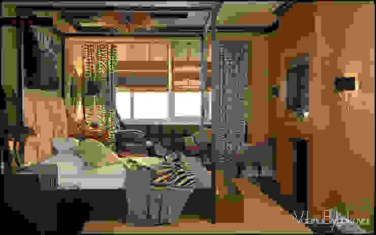 Голливу Спальня в эклектичном стиле от Valeria Bylgakova&Design group Эклектичный