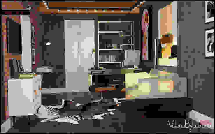 Голливу Рабочий кабинет в эклектичном стиле от Valeria Bylgakova&Design group Эклектичный