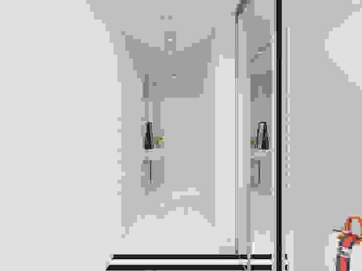 Couloir, entrée, escaliers originaux par Оксана Мухина Éclectique