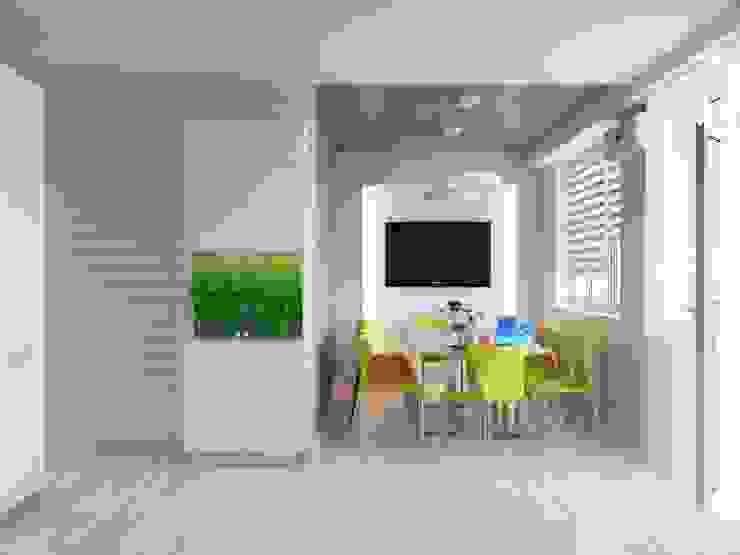 Квартира двухкомнатная Кухни в эклектичном стиле от Оксана Мухина Эклектичный