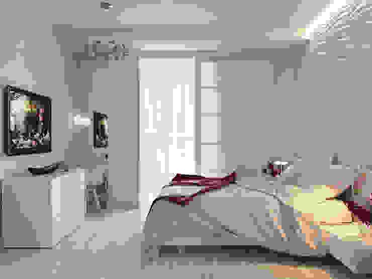 Квартира двухкомнатная Спальня в эклектичном стиле от Оксана Мухина Эклектичный