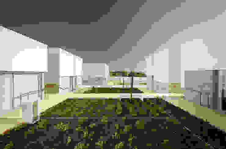 Vista Exterior Jardins mediterrânicos por guedes cruz arquitectos Mediterrânico