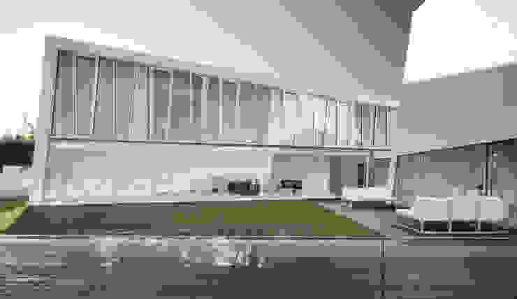 Vista Exterior: Casas  por guedes cruz arquitectos,Minimalista