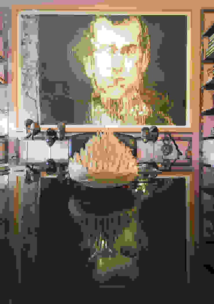 Shadows of Plum por CUBICULUM // arquitectura & interiores Eclético Pedra
