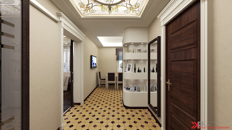 Интерьер 2-х комнатной квартиры Коридор, прихожая и лестница в классическом стиле от Константин Паевский-PAEVSKIYDESIGN Классический
