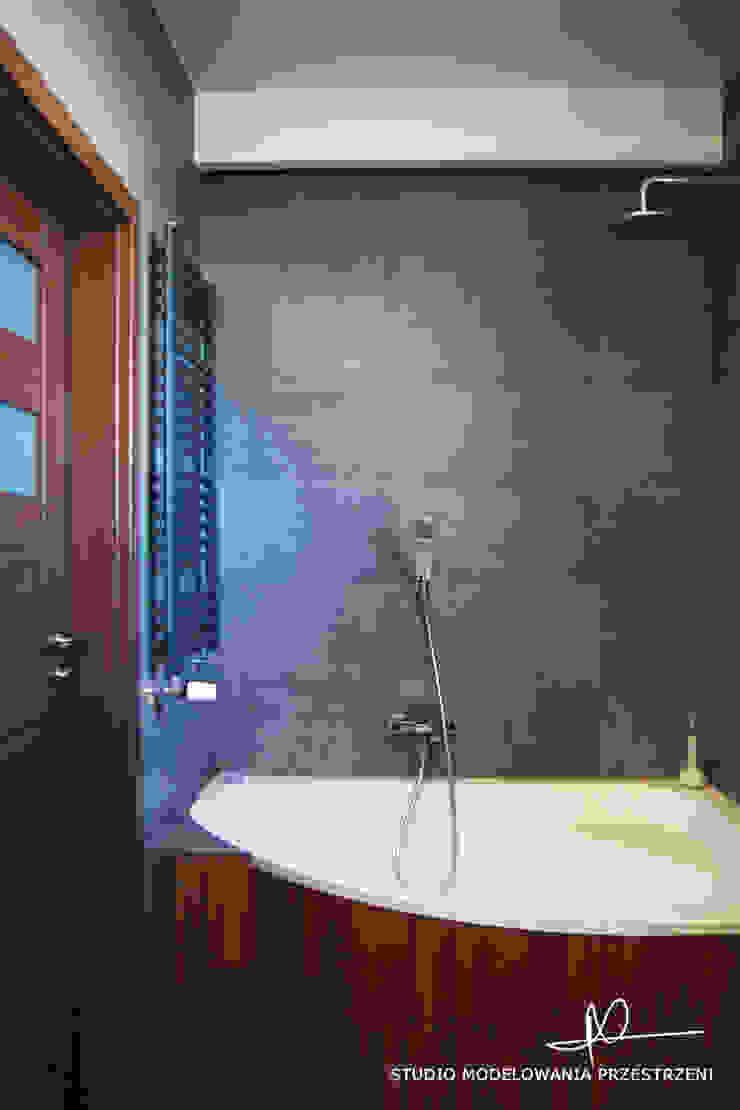 nowoczesne i przytulne mieszanie Nowoczesna łazienka od Studio Modelowania Przestrzeni Nowoczesny