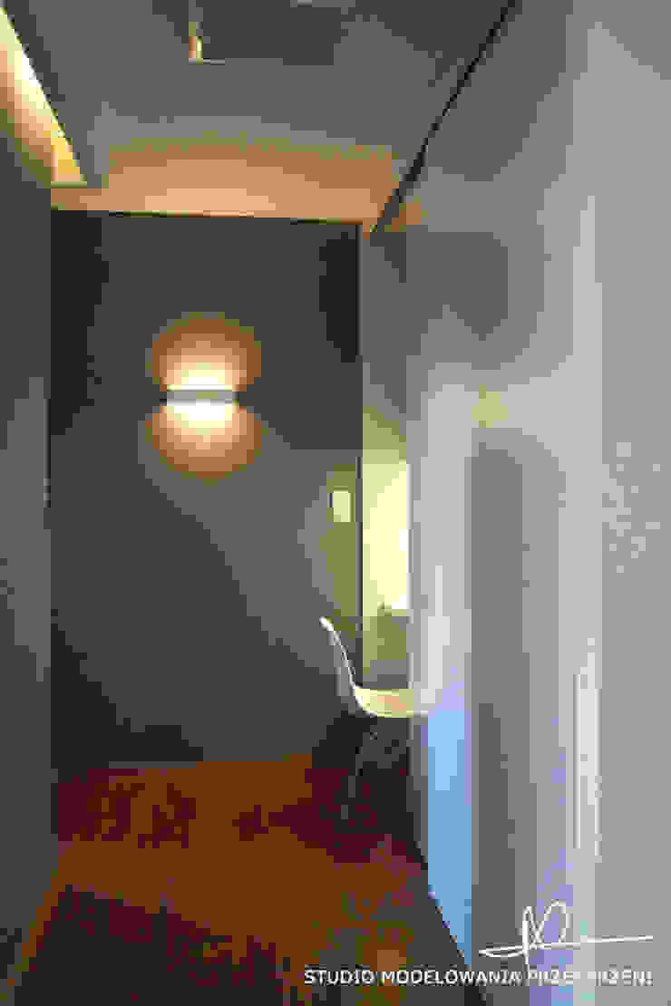 nowoczesne i przytulne mieszanie Nowoczesne domowe biuro i gabinet od Studio Modelowania Przestrzeni Nowoczesny