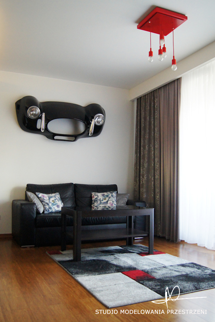 nowoczesne i przytulne mieszanie Nowoczesny salon od Studio Modelowania Przestrzeni Nowoczesny