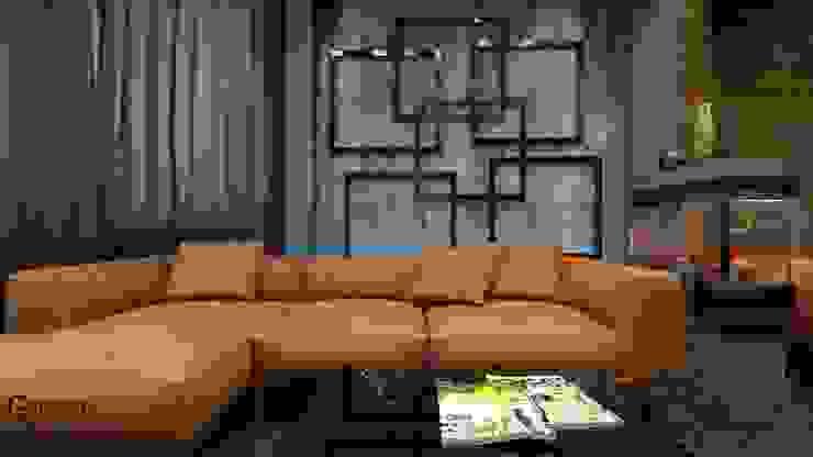 Квартира в современном стиле Гостиная в стиле минимализм от Константин Паевский-PAEVSKIYDESIGN Минимализм