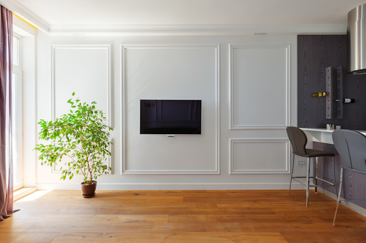 Минималистичная квартира Гостиная в стиле минимализм от U-Style design studio Минимализм