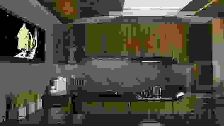 Квартира в современном стиле Кухня в стиле минимализм от Константин Паевский-PAEVSKIYDESIGN Минимализм
