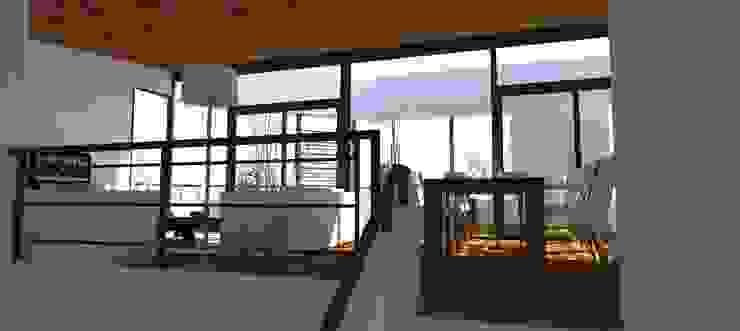 现代客厅設計點子、靈感 & 圖片 根據 UFV 72 Arquitectura Integral 現代風