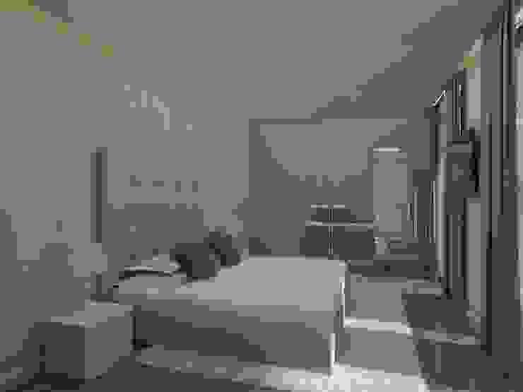 Propuesta 3D - Diseño de Habitaciones para Quinta Ubicada en Miami - Florida. Gabriela Afonso Cuartos de estilo moderno Beige