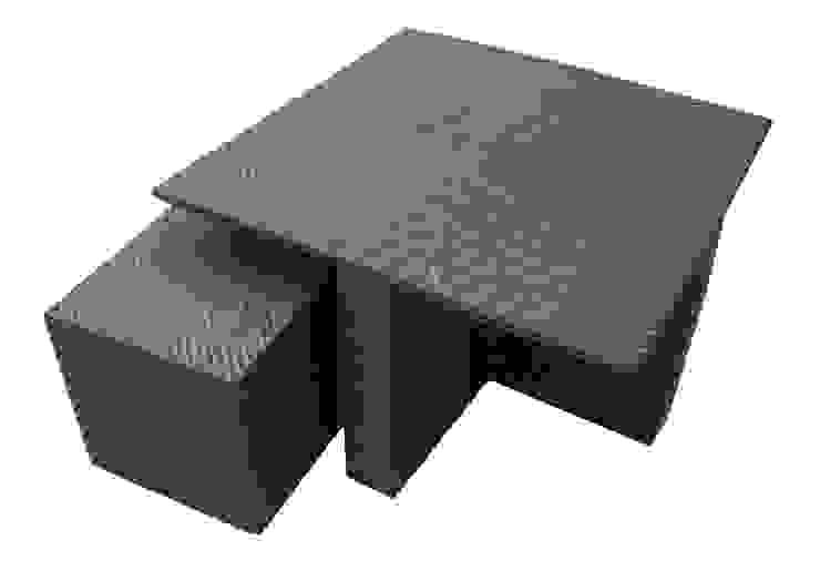 Mesa Cubo tejida / Conjunto Chelem de Maria Juana Art Moderno Plástico
