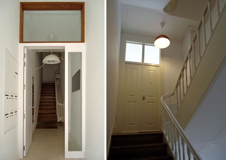 FOTOGRAFIAS COLECTIVO arquitectos Corredores, halls e escadas minimalistas