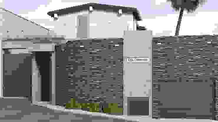 Propuesta para Fachada Casas modernas: Ideas, imágenes y decoración de Gabriela Afonso Moderno Piedra