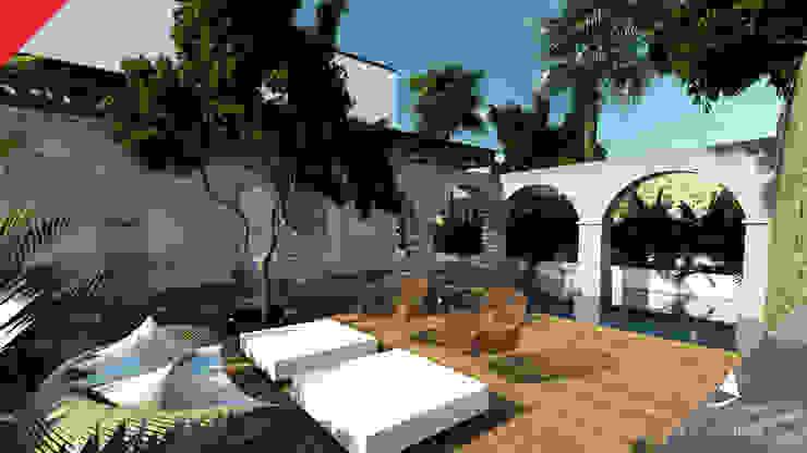Casa de Campo Tempoal Albercas minimalistas de Tectónico Minimalista
