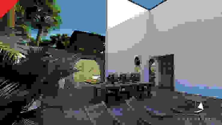Casa de Campo Tempoal Balcones y terrazas minimalistas de Tectónico Minimalista