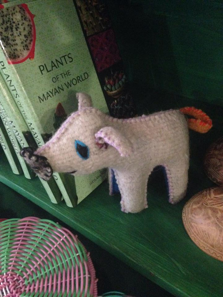 Animales de lana de Maria Juana Art Ecléctico Lana Naranja