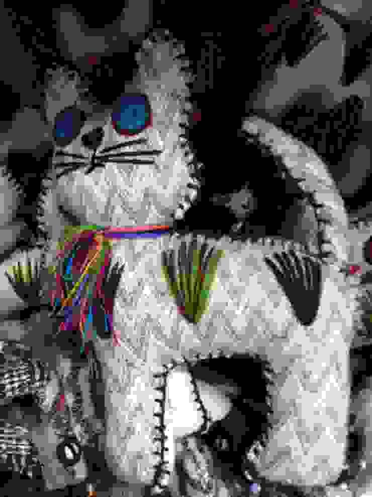 Animales de lana y fieltro para niños de Maria Juana Art Ecléctico Lana Naranja