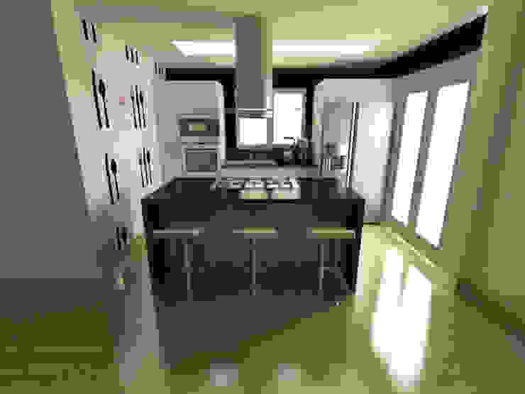 Cuisine minimaliste par OPFA Diseños y Arquitectura Minimaliste