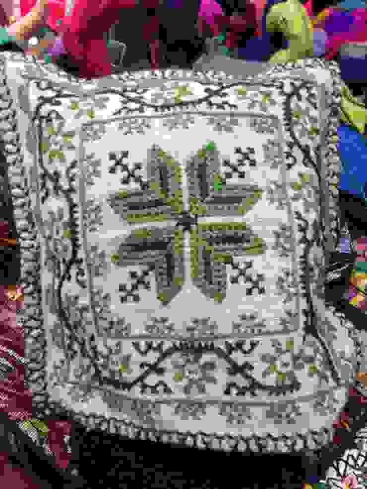 Cojines decorativos hechos de lana de Maria Juana Art Ecléctico Lana Naranja