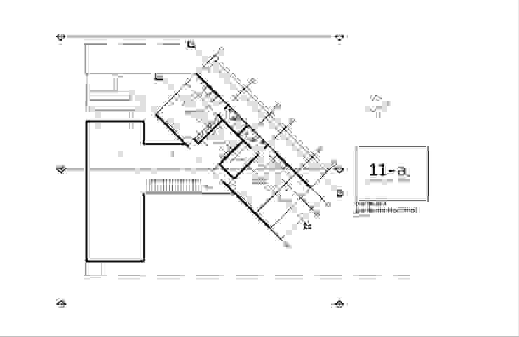 Plano Arquitectónico Planta Alta de VIVAinteriores Minimalista