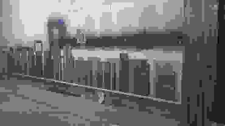Barnizado de poliuretano sobre escalones de madera de parota de k4bim