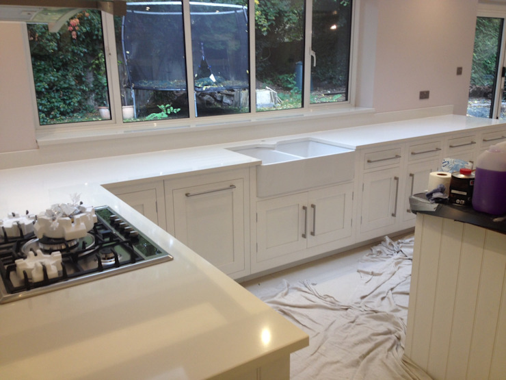 Compac Vanille Quartz Classic style kitchen by Marbles Ltd Classic