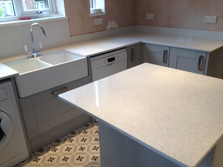 Silestone Stellar Blanco Quartz Classic style kitchen by Marbles Ltd Classic