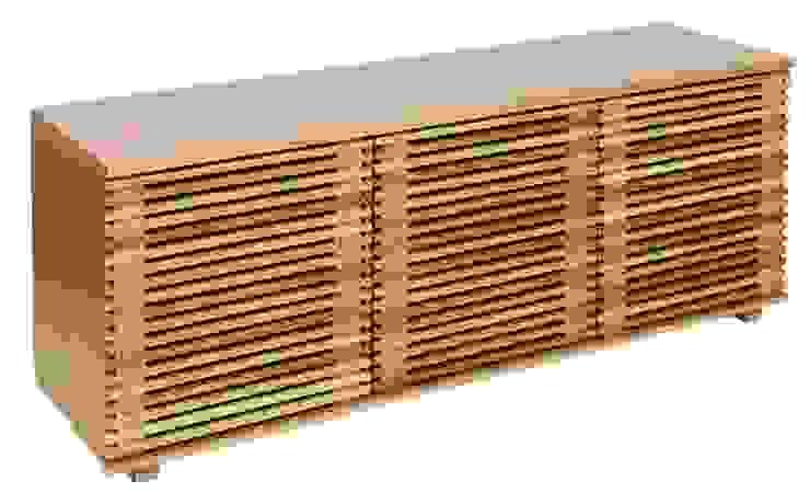 Nowoczesna komoda Putney od onemarket.pl Skandynawski Drewno O efekcie drewna
