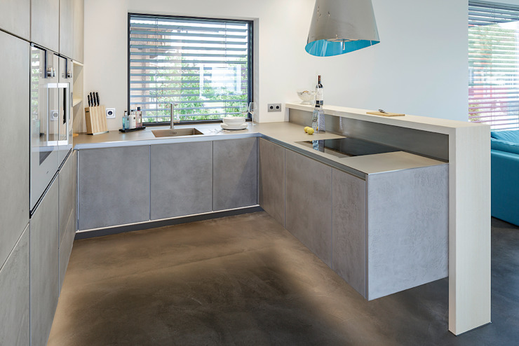 Lopez-Fotodesign Cocinas de estilo moderno Gris