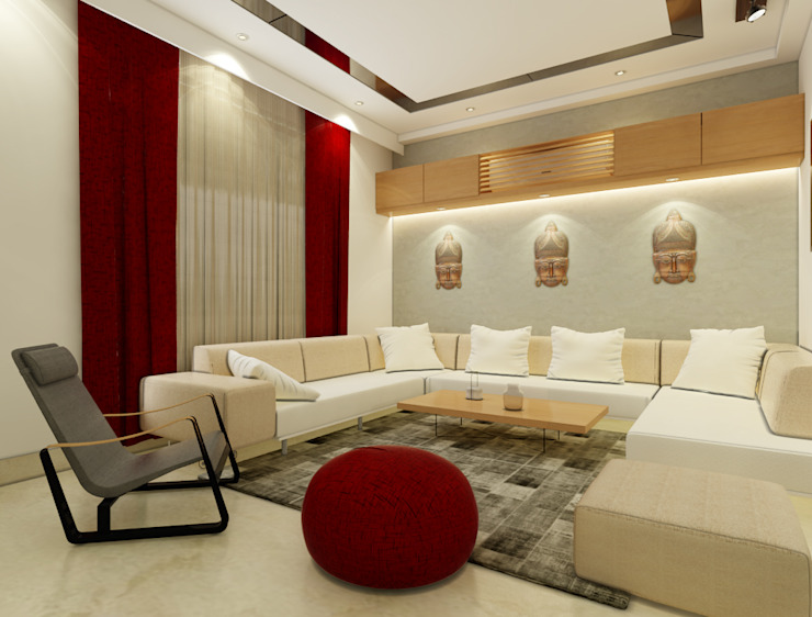 Modern living room by Space Interface Modern