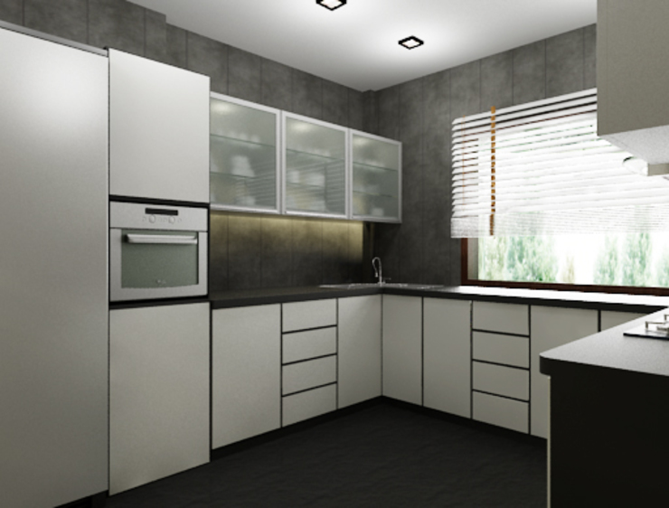 Suneja Residence Modern kitchen by Space Interface Modern