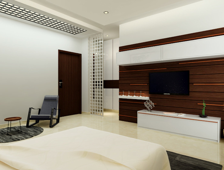 Suneja Residence Modern style bedroom by Space Interface Modern