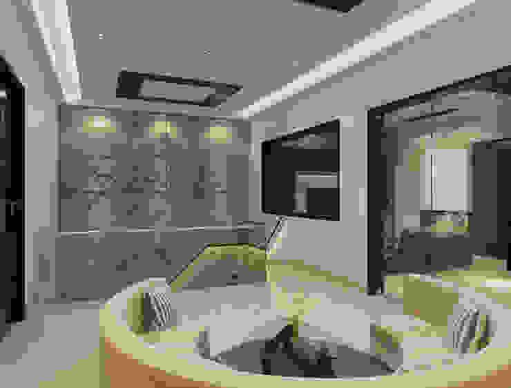Suneja Residence Modern corridor, hallway & stairs by Space Interface Modern