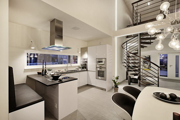 Lopez-Fotodesign Cocinas de estilo moderno Blanco