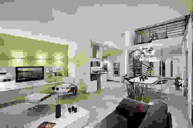 Lopez-Fotodesign Salas de estilo moderno Blanco