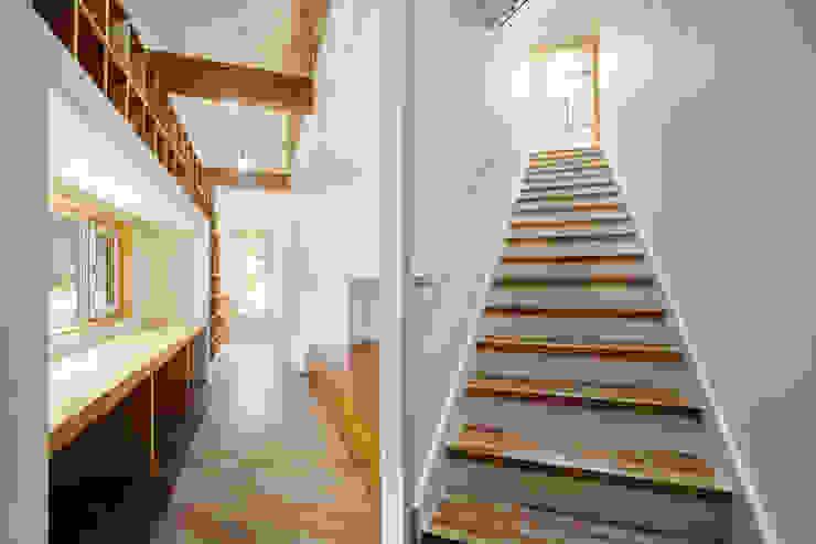 Modern corridor, hallway & stairs by B.U.S Architecture Modern