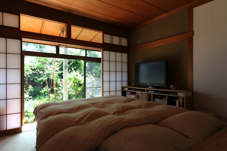 House K Asian style bedroom by kosuke sakai & associates Asian Wood Wood effect