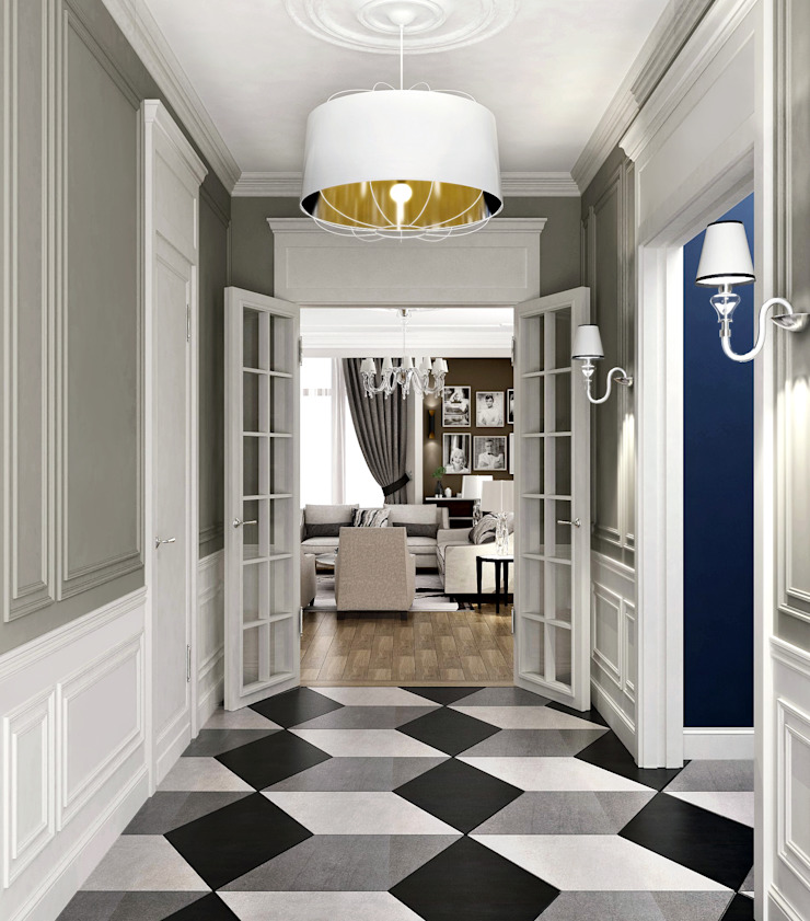 Classic style corridor, hallway and stairs by ONE STUDIO Classic