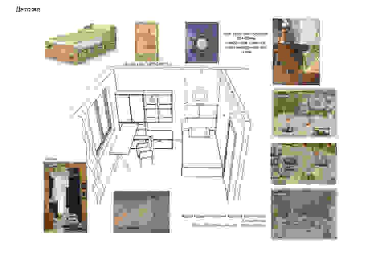 Дизайн проект трехкомнатной квартиры в Москве. Детская комната в стиле лофт от Скулков Павел Лофт